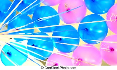 rotating colored balls on white background