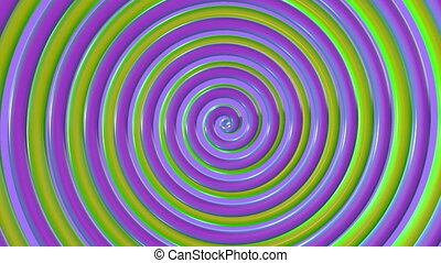 Rotating colorful spiral