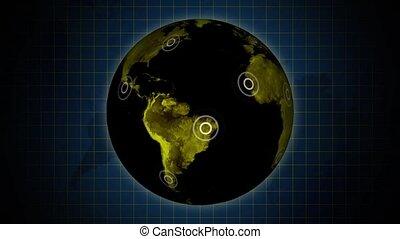 Rotating dark Earth