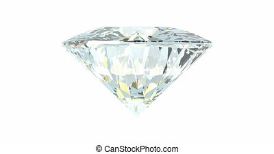 Rotating diamond loop on white