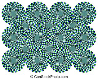 Rotating diamond wheels illusion - Rotating diamond wheels...
