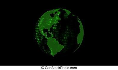 Rotating Digital Earth Globe