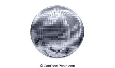 Rotating disco ball, animation