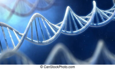 Rotating DNA macro view