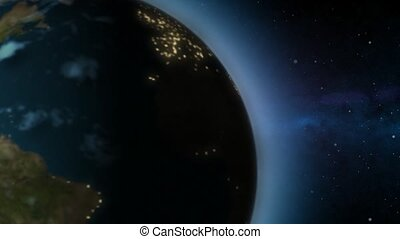 Rotating Earth - day to night - Loopable rotating Earth...