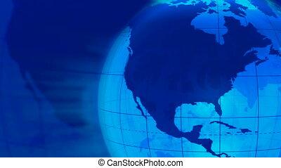 Rotating Earth globe loop
