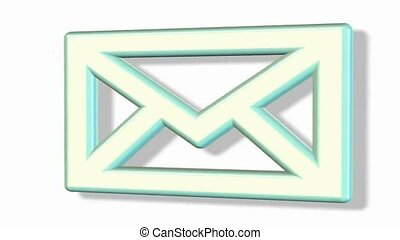 rotating email envelope