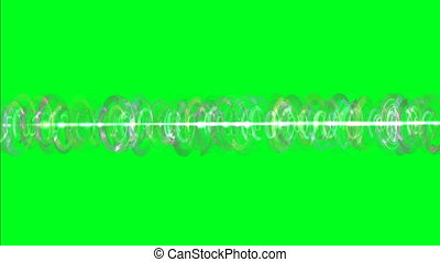 Rotating Energy Rays on green screen