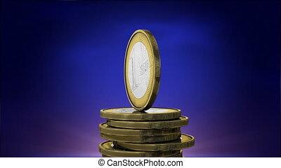 Rotating euro coins