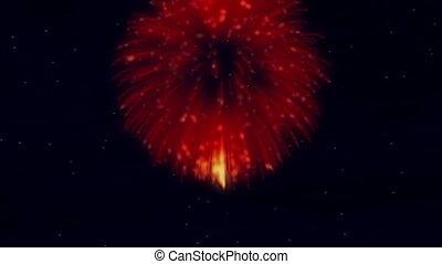 Rotating Fireworks