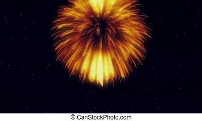 Rotating Fireworks - stars