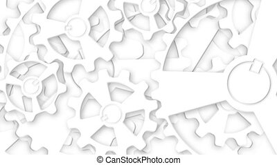 Rotating Gear Mechanism. Abstract Gears Animated Background...