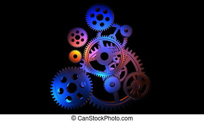 Rotating gears loop