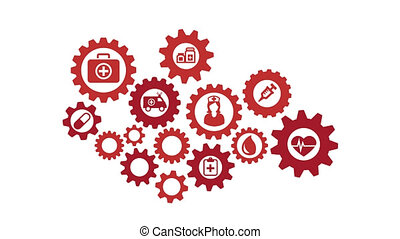 Rotating gearwheel assembly representing the health ...
