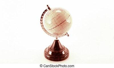 rotating globe isolated
