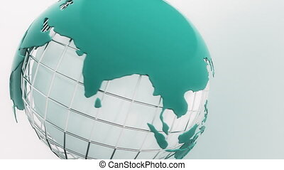 Rotating globe. Seamless loop.