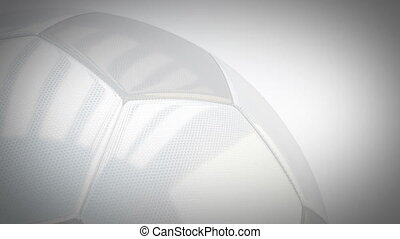 Rotating glossy soccer ball background - seamless looping -...