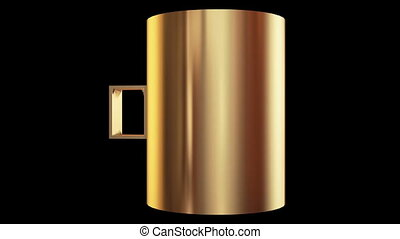 Rotating gold pitcher
