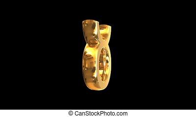 Rotating golden zodiac signs - Rotating 3D golden zodiac...