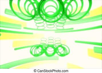 Rotating Green Circles