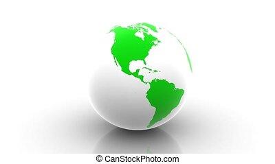Rotating Green Earth.