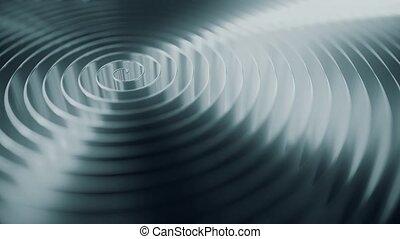 Rotating grey coil, shallow focus