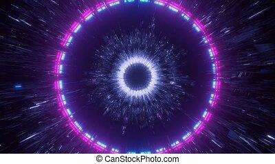 Rotating Light Tunnel in Dark Space 4k uhd 3d rendering vj loop