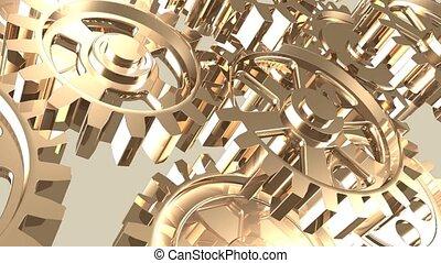 Rotating machine gear wheels