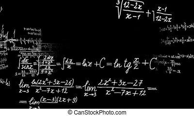 Rotating math motion graphics. - Math calculations or...