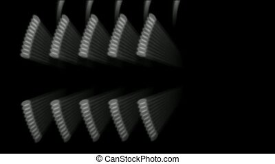 rotating metal gears loop.