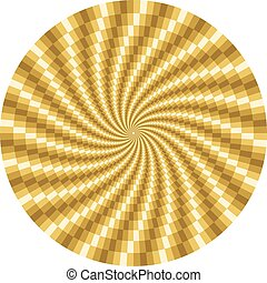 Rotating motion optical illusion - Golden rotating motion...