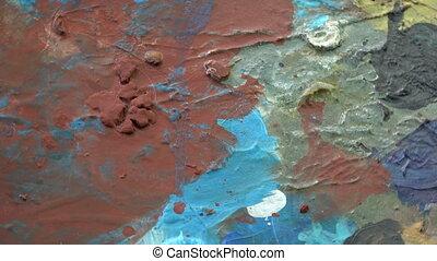 Rotating painter artist palette background - Rotating...