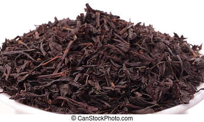 Rotating pile of black tea