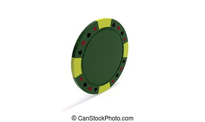 Rotating poker chip