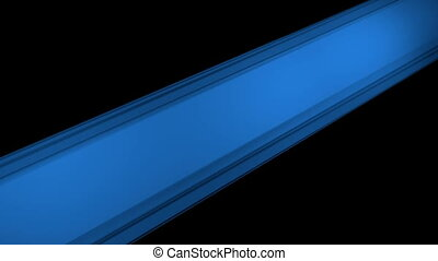 Rotating rectangle in blue on black