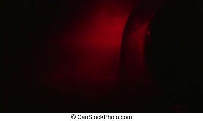 Red Emergency Flashing Light