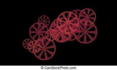 rotating red gears or wheel loop