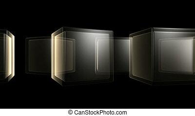Rotating SemiTransparent Cubes