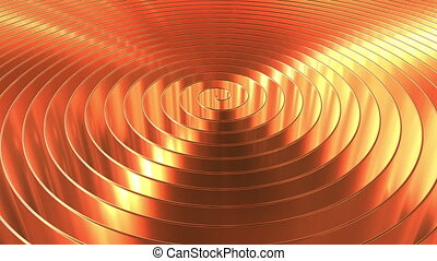 Rotating shiny copper coil. Loopable 3D animation - Rotating...