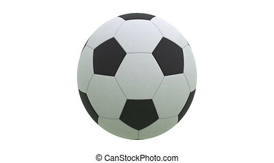Rotating soccer ball with alpha 3D render. Full HD