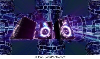 Rotating sound speakers