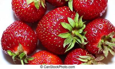 Rotating strawberry.