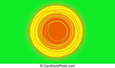 Rotating Sun Green Screen