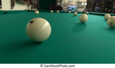 Rotating the cue ball after hitting