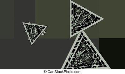 rotating triangles . abstract 3d graphics , vj - rotating...
