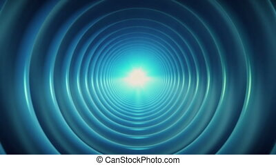 Rotating tunnel in blue