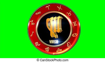 This stock motion graphic features , the symbol for the Zodiac sign in Indian astrology. The Zodiac sign is surrounded with a red disc that has the other symbols of the Indian Zodiac system. Use this transparent element on TV shows, mobile apps, websites, presentations, etc. that feature the Zodiac...