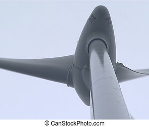 Rotating windmill propeller - Closeup of rotating windmill...