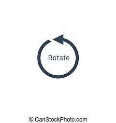 rotation arrow Icon, rotate 360 degrees counter clockwise. Stock vector illustration isolated