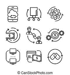 rotation arrow icon set